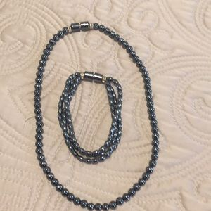Jewelry - Never use gray color necklace and bracelet